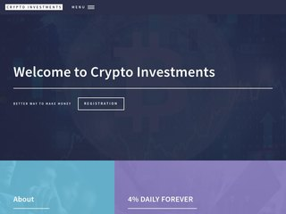 HYIP Investment Program:Crypto Investments