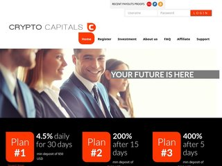 HYIP Investment Program:CryptoCapitals