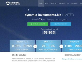 HYIP Investment Program:Dynamic Investments