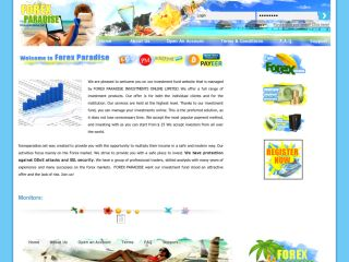 HYIP Investment Program:Forex Paradise