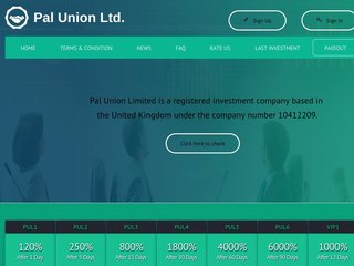 HYIP Investment Program:PalUnionLimited