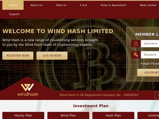 HYIP Investment Program:Wind Hash